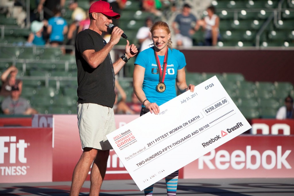 Annie Thorisdottir winning the 2011 Reebok CrossFit Games
