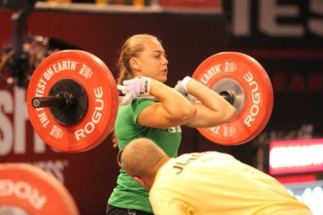 Katie Hogan Using Gloves While O-Lifting